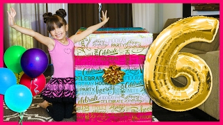 Video EVELYN'S 6th BIRTHDAY PRESENT OPENING - What I got for my Birthday - Giant Surprise Toys Family Fun download MP3, 3GP, MP4, WEBM, AVI, FLV Juni 2017