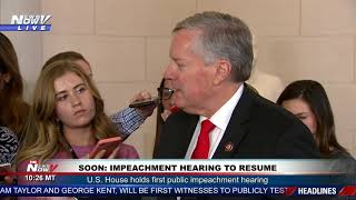 """""""UNFAIR PROCESS"""": Mark Meadows GOES OFF On Impeachment Hearing"""