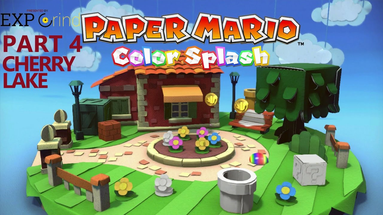 Paper Mario Color Splash Gameplay Part 4 Cherry Lake