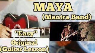 MAYA   Mantra Band  Guitar Lesson  Easy Chords
