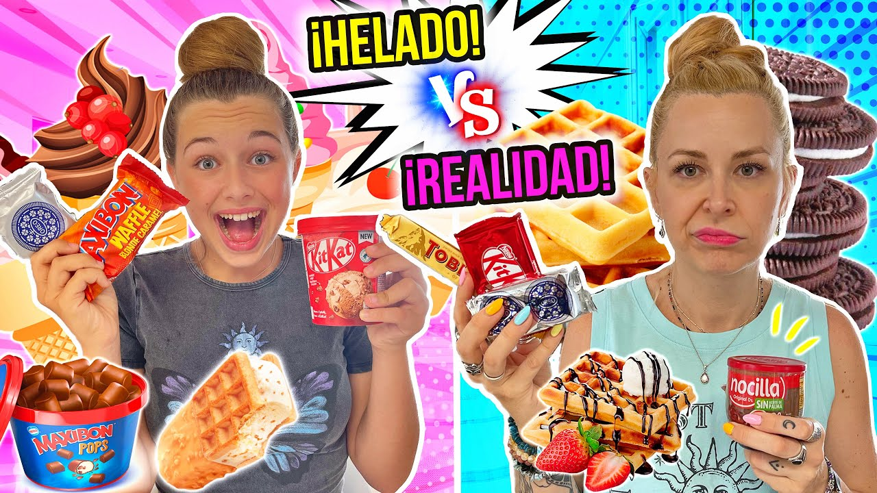 HELADO vs REALIDAD 🍦  Ice cream vs real food CHALLENGE