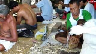 Woodworkers In Kemenuh Village, Bali