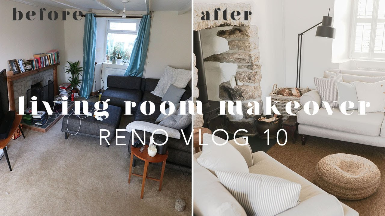 EXTREME COTTAGE LIVING ROOM MAKEOVER | RENO VLOG 10