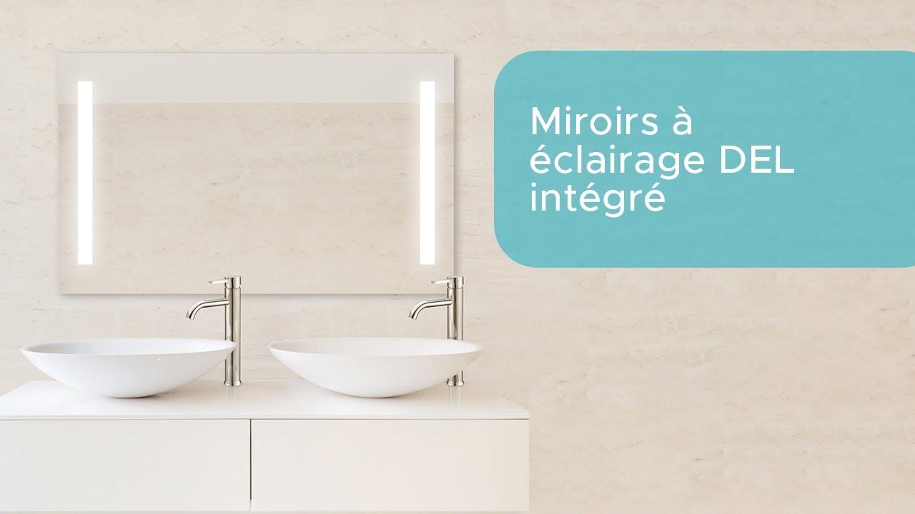 Bain Dépôt: miroir de salle de bain à éclairage intégré - YouTube