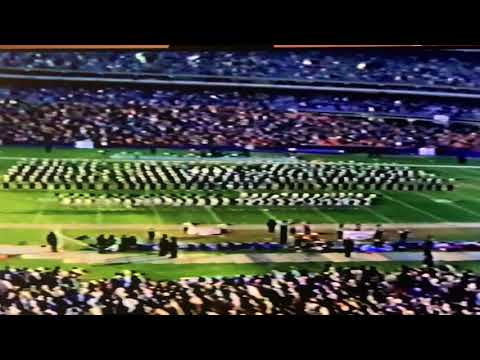Harborfields High School (Greenlawn NY) Marching Band and Drill Team 1983 Halftime at Jets Game