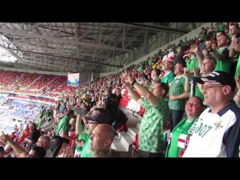 One of the best songs of Northern Ireland crowd, Sweet Caroline,EURO 2016