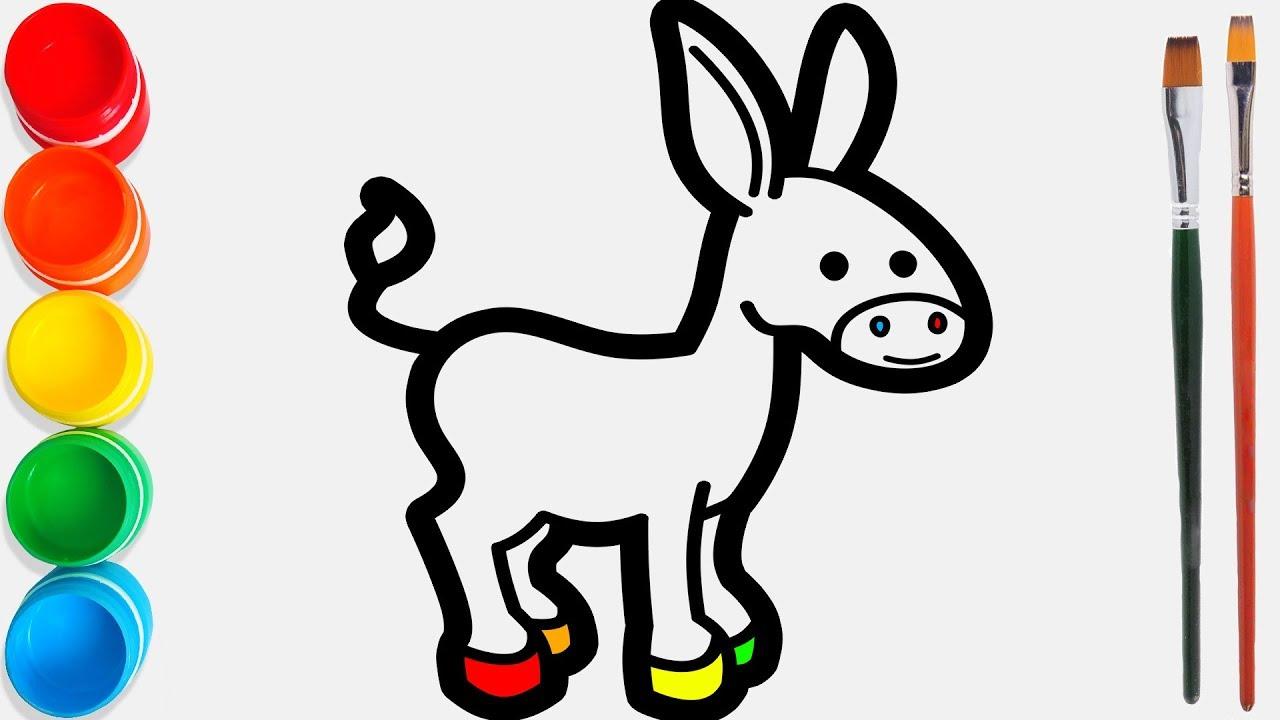 Rainbow Donkey Keledai Warna Warni Belajar Menggambar Dan Mewarnai Untuk Anak