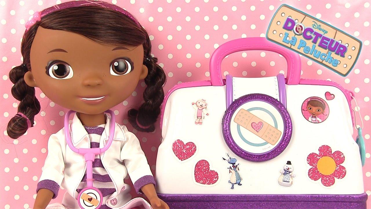 docteur la peluche jouets nouvelle mallette du docteur et accessoires youtube. Black Bedroom Furniture Sets. Home Design Ideas