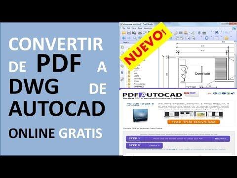 Convertir PDF A DWG De AutoCAD O DXF CAD Gratis ONLINE, Para Poder Editarlo
