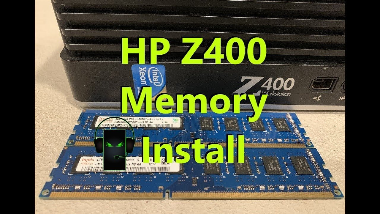 How to install 16GB of memory/ram into an HP Z400 Workstation