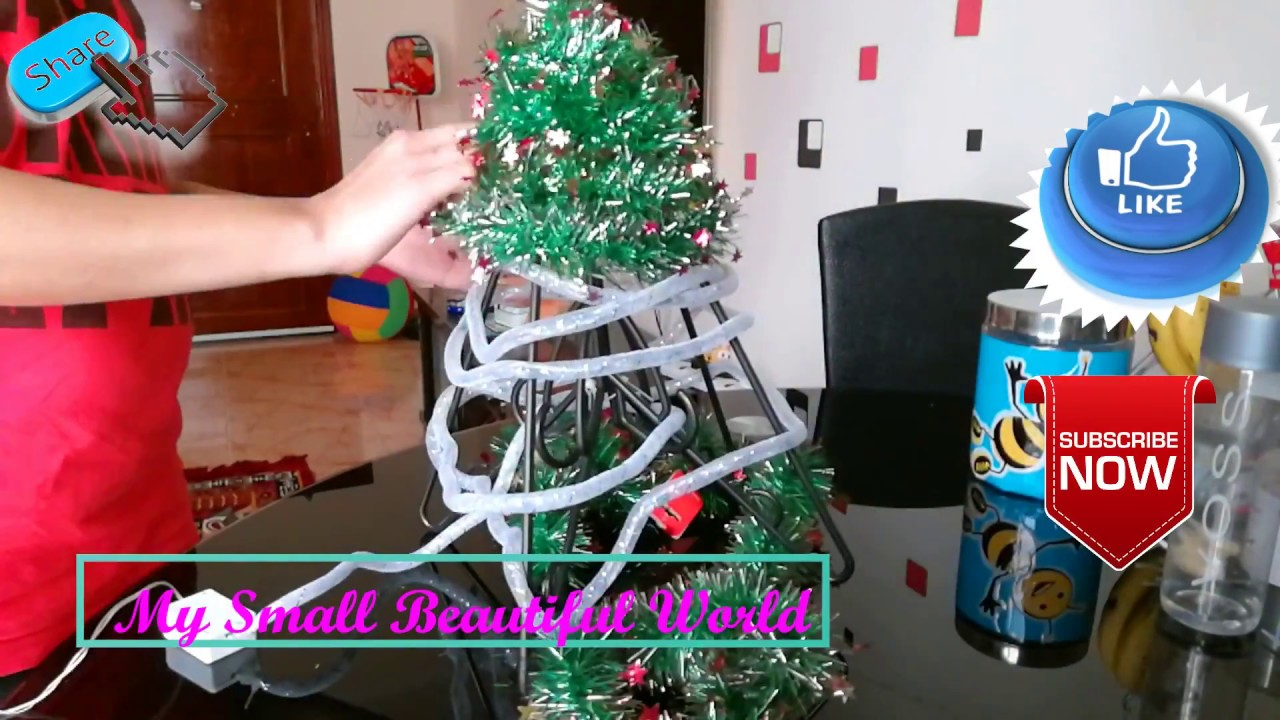 christmas tree diy idea for small flat live your style christmas tree diy - Small Live Decorated Christmas Trees