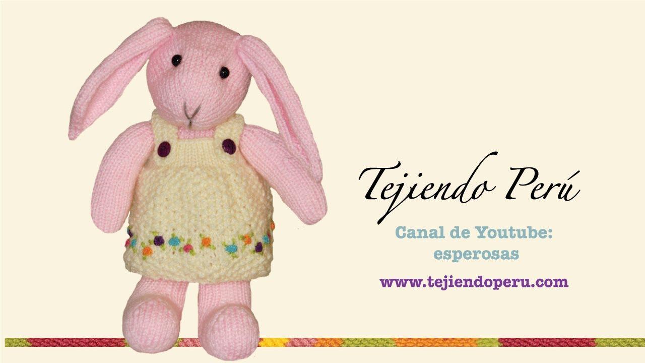 Conejos tejidos en dos agujas o palillos: vestido de la coneja ...