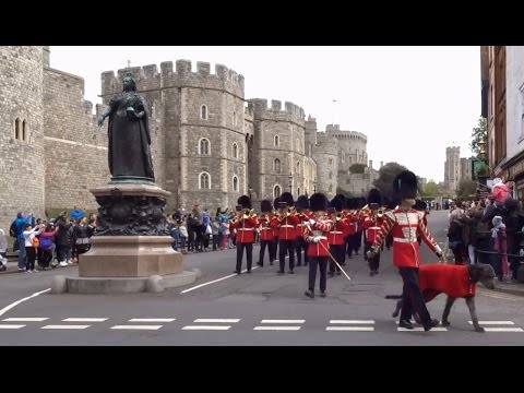 Changing of the Guard at Windsor Castle - Saturday the 15th of April 2017