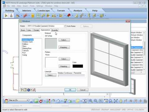 hgtv home design software inserting and adjusting