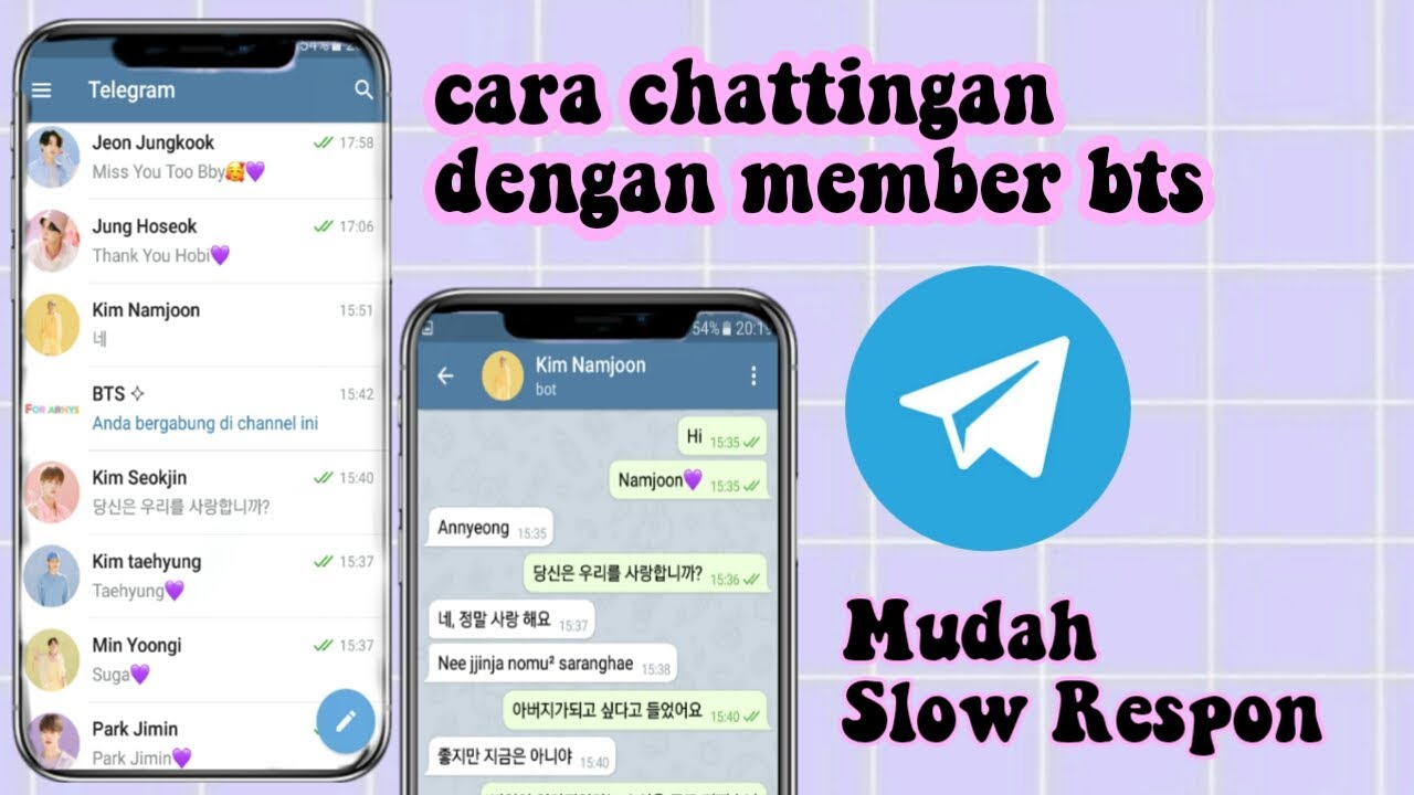 Cara chat dengan bot telegram,member bts bot telegram