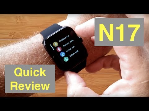 RUNDOING N17 Ultra-Thin Multi-Sport Blood Pressure IP68 Smartwatch: One Minute Overview