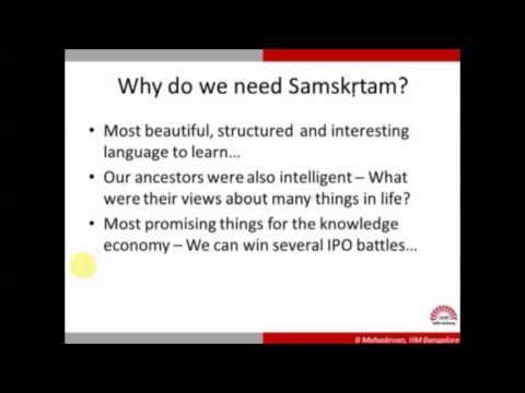 Ten day spoken Sanskrit Classes - Day 01 (Apr 29 2016)