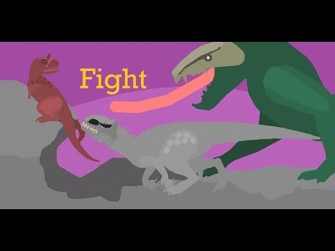 Carnotaurus Vs Indominus Rex Vs Skull Crawler (Jurassic Battle)