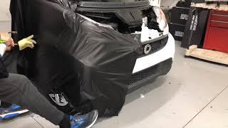 fastest smart car fender wrap like ever!