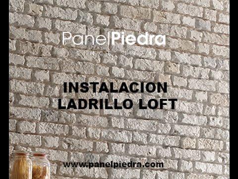 Ladrillo Loft montaje ladrillo loft panel piedra