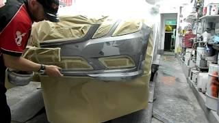 www.touchuppaints.com.au sanding preparation of a vehicle bumper bar part 1