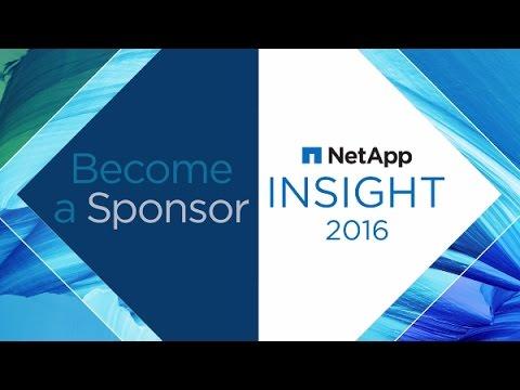Become a Sponsor for NetApp Insight 2016!
