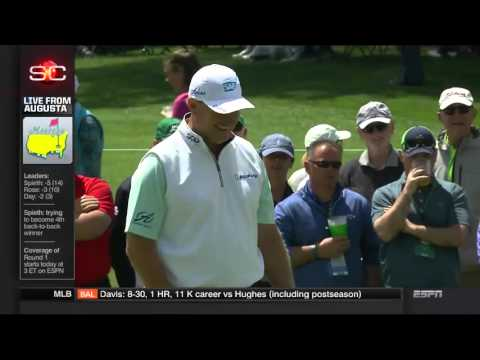 Ernie Els 6 Putt on First Hole At 2016 Masters HD