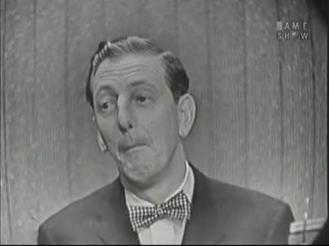 What's My Line?  Ray Bolger; Johnny Carson panel Apr 8, 1956