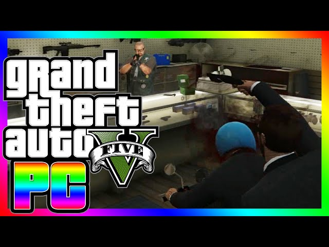 GTA 5 PC | Crazy Racist, Gun Purchase Fail, Moped Murder (GTA V PC Online Funny Moments)