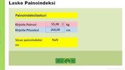 Painoindeksi - BMI laskuri - Painoindeksilaskuri