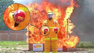 THIS BALL WILL EXTINGUISH THE FIRE IN 2 SECONDS!