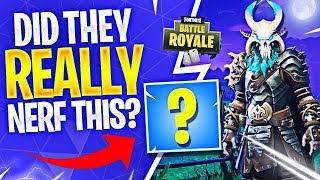 DID THEY REALLY NERF THIS?! (Fortnite Battle Royale) thumbnail
