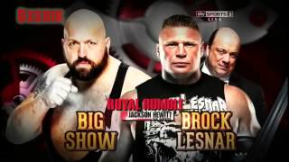 WWE Royal Rumble 2014 Match Card V3