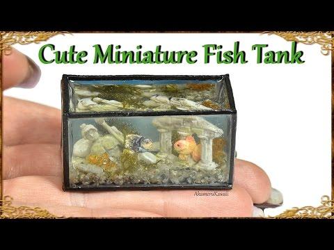 How to; Mini Fish Tank - Doll Aquarium Resin Craft Tutorial