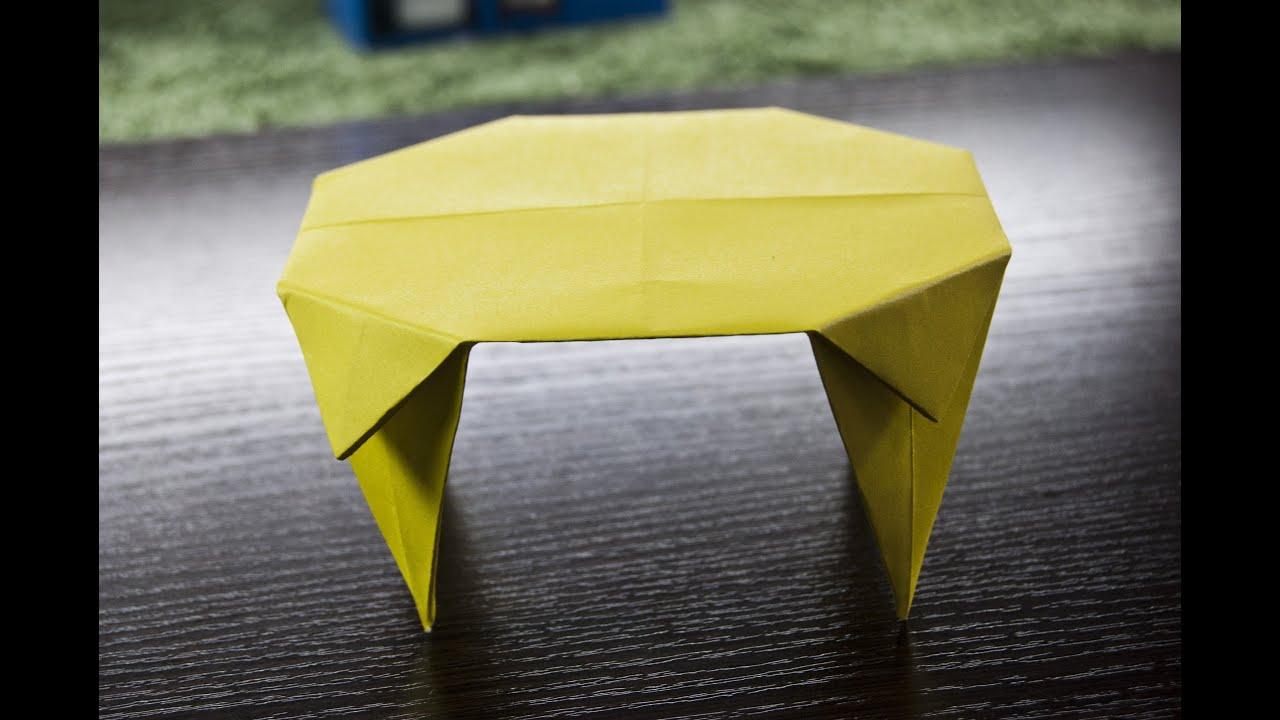 como hacer una mesa de papel facil  YouTube