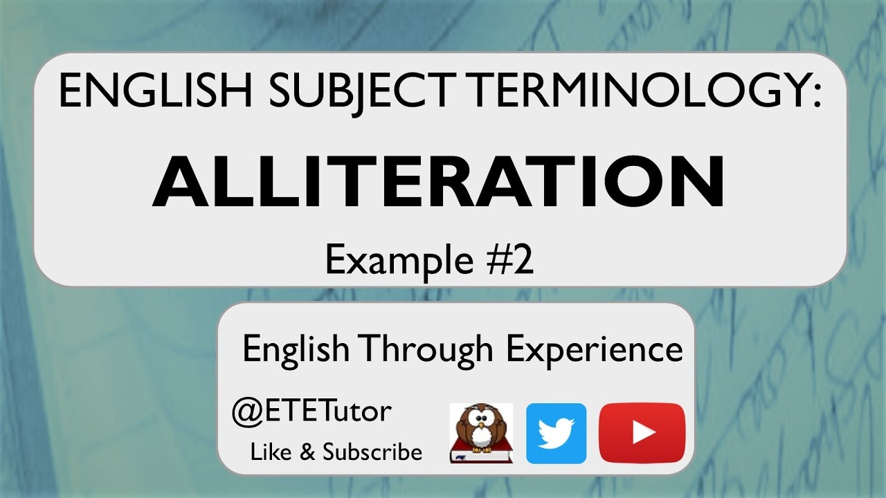 Revise With Me English Subject Terminology Alliteration Example 2