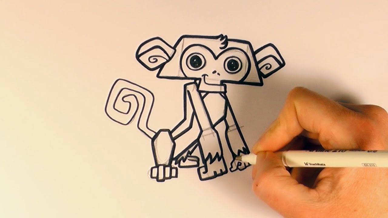 How To Draw A Cartoon Monkey From Animal Jam  Zooshii Style