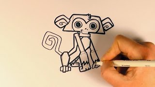How to Draw a Monkey From Animal Jam