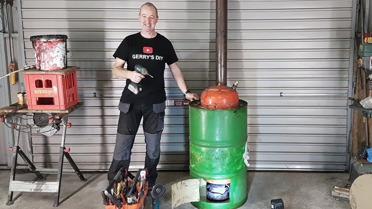 Waste Oil Burner ... Make Lots of Free Hot Water ... part 1 - YouTube
