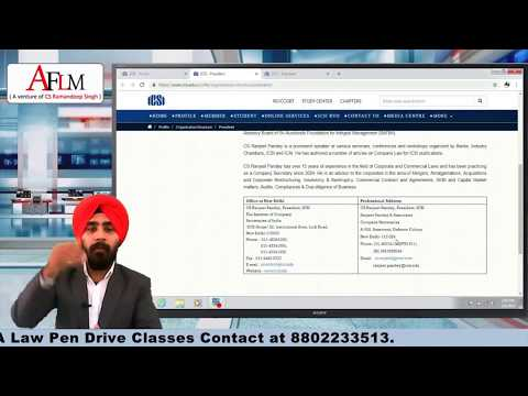 UPDATE REGARDING ICSI REFORMS - MUST WATCH AND SHARE BY CS RAMANDEEP SINGH (CYBER LAWYER)