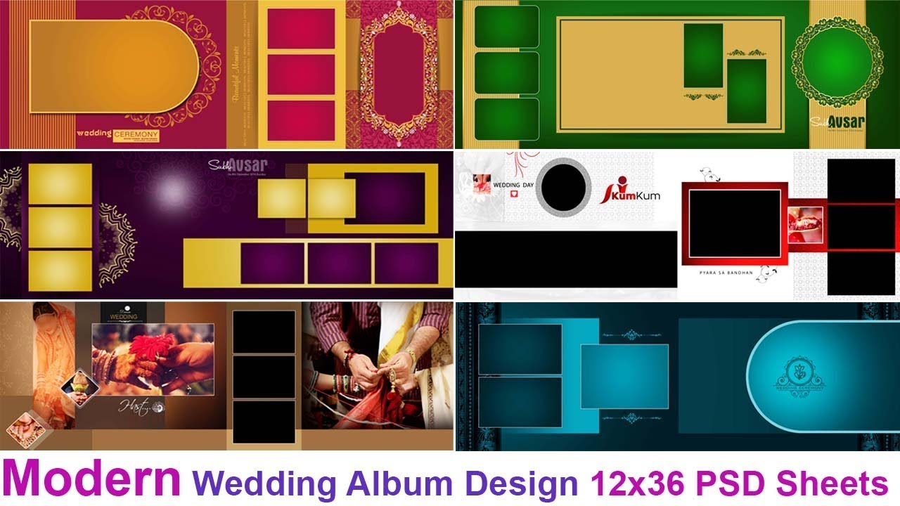 Modern Wedding Album Design 12x36 Psd Sheets Free Download By