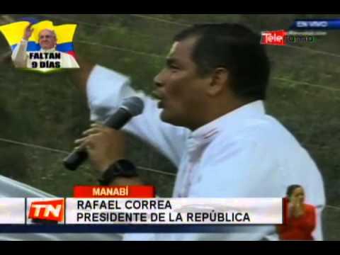Presidente Correa dice que existe una conspiración contra su gobierno