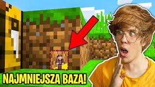Znalazłem NAJMNIEJSZĄ TAJNĄ BAZĘ w MINECRAFT! - Mini Minecraft