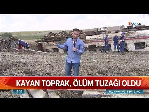 Atv Haber Çorlu'daki tren kazasının yaşandığı yerde! - Atv Haber 9 Temmuz 2018