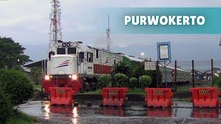 Kompilasi Kereta Api keluar masuk Stasiun Purwokerto part 1