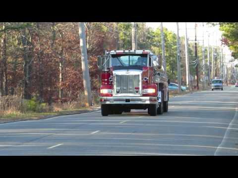 manitou park tanker 1808 responding to working fire 12/25/16 #firetruck #tender #tanker