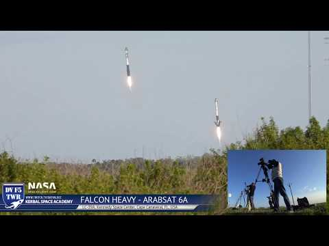 Camera Crew Reaction Video - Falcon Heavy Arabsat 6A Launch And Landing