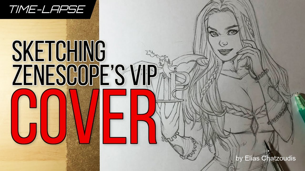 Sketching Zenescope's VIP Platinum Cover