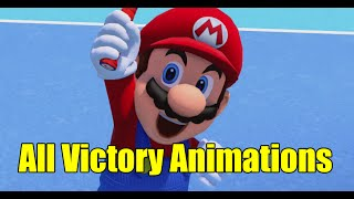 All 16 Character Victory Win Animations in Mario Tennis Ultra Smash