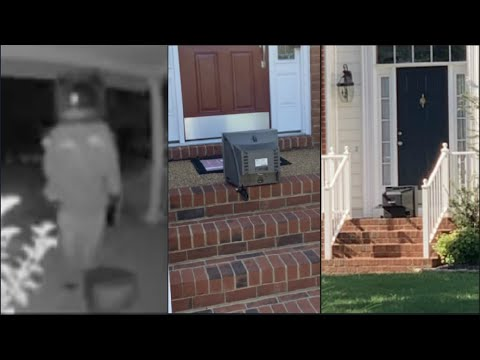 'TV Santa Claus': Video Shows Mysterious Figure Leaving Vintage TVs On Virginia Front Porches